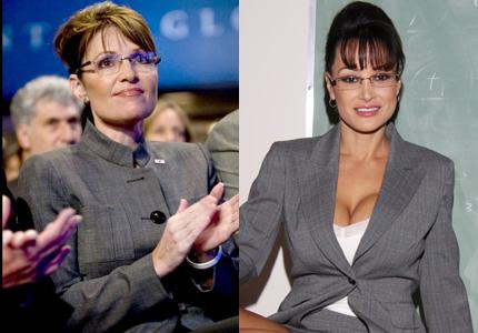SaraH Palin (izq), Lisa Ann (der)